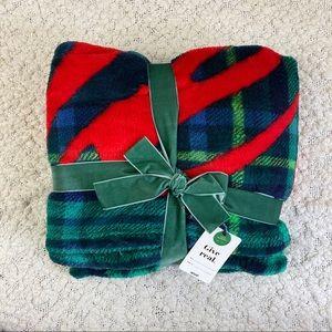"""NWT Aerie Plush Fleece Throw Blanket 48"""" x 58"""""""